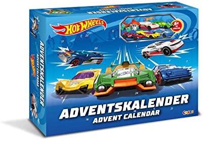 Craze 13908 - Hot Wheels Adventskalender, mit Spielzeug, Autos, Sticker