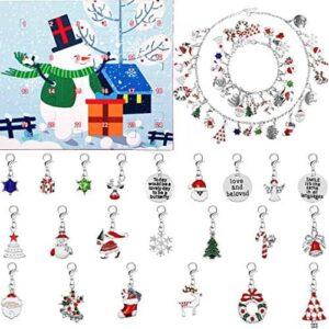 24 Stücke Weihnachten Schmuck Adventskalender Armband Schmuck 24 Tage