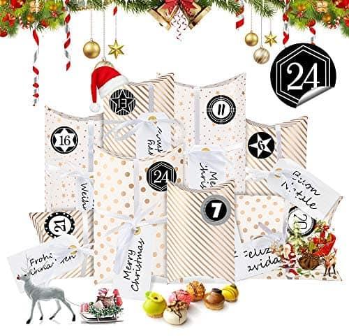 Adventskalender zum Befüllen, Weihnachtskalender Box