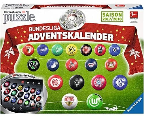 Ravensburger 11695 - Adventskalender Bundesliga 3D Puzzle