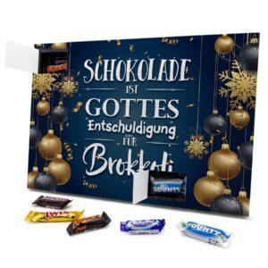 Schokolade ist Gottes Entschuldigung für Brokkoli 434153 AKM 0001 00013 1
