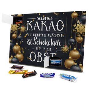 Solange Kakao auf Bäumen wächst, ist Schokolade für mich Obst 434153 AKM 0001 00020 1