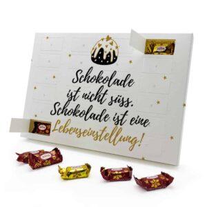 Schokolade ist eine Lebenseinstellung 787725 AKZ 0001 00003 1
