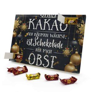 Solange Kakao auf Bäumen wächst, ist Schokolade für mich Obst 787725 AKZ 0001 00020 1
