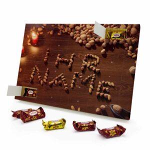 Marzipan Adventskalender mit eigenem Namen personalisieren - Motiv Nüsse Marzipan Adventskalender 1043 1 1
