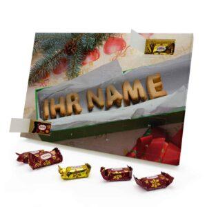 Marzipan Adventskalender mit eigenem Namen personalisieren - Motiv Keksbox Marzipan Adventskalender 2252 1 1