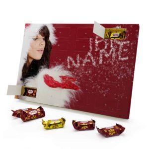 Marzipan Adventskalender mit eigenem Namen personalisieren - Motiv Weihnachtsglitzer Marzipan Adventskalender 2335 1 1