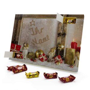 Marzipan Adventskalender mit eigenem Namen personalisieren - Motiv Weihnachtsfenster Marzipan Adventskalender 2462 1 1