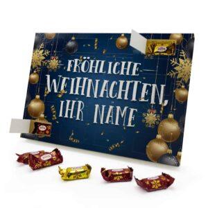Marzipan Adventskalender mit eigenem Namen personalisieren - Motiv Fröhliche Weihnachten Marzipan Adventskalender 2637 1 1