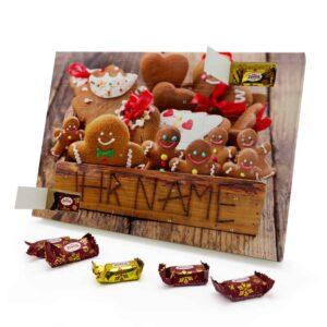 Marzipan Adventskalender mit eigenem Namen personalisieren - Motiv Weihnachtsbox Marzipan Adventskalender 2825 1 1