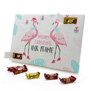 Marzipan Adventskalender mit eigenem Namen personalisieren - Motiv Flamingo Marzipan Adventskalender 2827 1 1