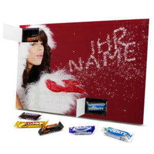 Mixed Minis Adventskalender mit eigenem Namen personalisieren - Motiv Weihnachtsglitzer Mixed Minis Adventskalender 2335 1 1