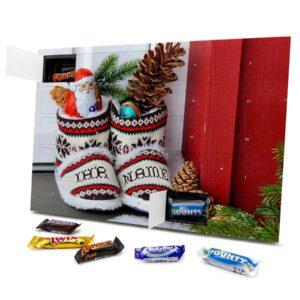 Mixed Minis Adventskalender mit eigenem Namen personalisieren - Motiv Weihnachtsschuhe Mixed Minis Adventskalender 2351 1 1