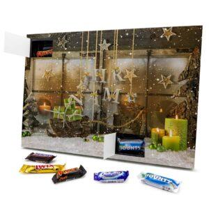 Mixed Minis Adventskalender mit eigenem Namen personalisieren - Motiv Weihnachtsscheibe Mixed Minis Adventskalender 2461 1 1