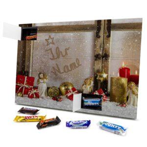Mixed Minis Adventskalender mit eigenem Namen personalisieren - Motiv Weihnachtsfenster Mixed Minis Adventskalender 2462 1 1