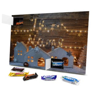 Mixed Minis Adventskalender mit eigenem Namen personalisieren - Motiv Lichterkette Mixed Minis Adventskalender 2596 1 1