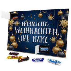 Mixed Minis Adventskalender mit eigenem Namen personalisieren - Motiv Fröhliche Weihnachten Mixed Minis Adventskalender 2637 1 1