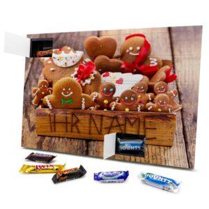 Mixed Minis Adventskalender mit eigenem Namen personalisieren - Motiv Weihnachtsbox Mixed Minis Adventskalender 2825 1 1