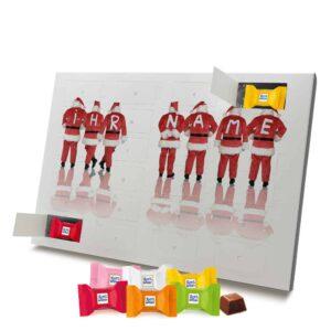 Ritter Sport Adventskalender mit eigenem Namen personalisieren - Motiv Weihnachtsmänner Ritter Sport Adventskalender 1055 1 1