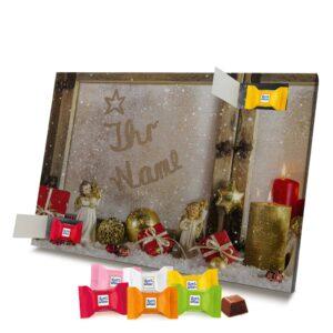Ritter Sport Adventskalender mit eigenem Namen personalisieren - Motiv Weihnachtsfenster Ritter Sport Adventskalender 2462 1 1