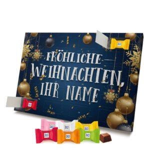 Ritter Sport Adventskalender mit eigenem Namen personalisieren - Motiv Fröhliche Weihnachten Ritter Sport Adventskalender 2637 1 1