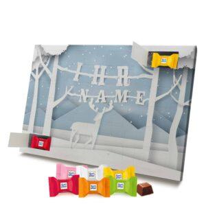 Ritter Sport Adventskalender mit eigenem Namen personalisieren - Motiv Papierschnitt Ritter Sport Adventskalender 2824 1 1