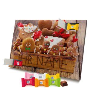 Ritter Sport Adventskalender mit eigenem Namen personalisieren - Motiv Weihnachtsbox Ritter Sport Adventskalender 2825 1 1