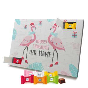 Ritter Sport Adventskalender mit eigenem Namen personalisieren - Motiv Flamingo Ritter Sport Adventskalender 2827 1 1