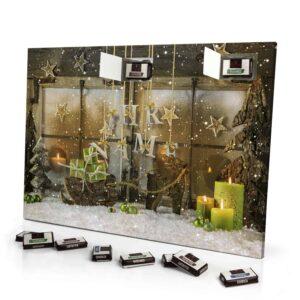 Sarotti Schokoladen Adventskalender mit eigenem Namen personalisieren - Motiv Weihnachtsscheibe Sarotti Schokoladen Adventskalender 2461 1 1