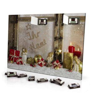 Sarotti Schokoladen Adventskalender mit eigenem Namen personalisieren - Motiv Weihnachtsfenster Sarotti Schokoladen Adventskalender 2462 1 1