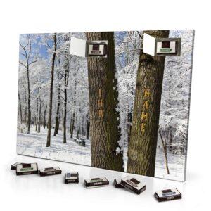 Sarotti Schokoladen Adventskalender mit eigenem Namen personalisieren - Motiv Bäume Sarotti Schokoladen Adventskalender 2493 1 1