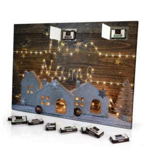 Sarotti Schokoladen Adventskalender mit eigenem Namen personalisieren - Motiv Lichterkette Sarotti Schokoladen Adventskalender 2596 1 1