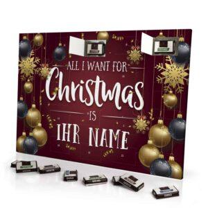 Sarotti Schokoladen Adventskalender mit eigenem Namen personalisieren - Motiv All i Want Sarotti Schokoladen Adventskalender 2636 1 1