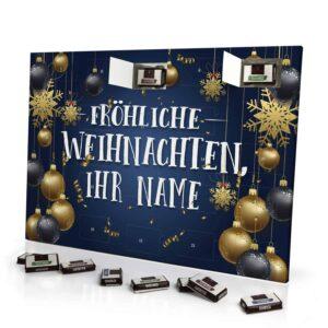 Sarotti Schokoladen Adventskalender mit eigenem Namen personalisieren - Motiv Fröhliche Weihnachten Sarotti Schokoladen Adventskalender 2637 1 1