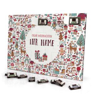 Sarotti Schokoladen Adventskalender mit eigenem Namen personalisieren - Motiv Weihnachtssymbole Sarotti Schokoladen Adventskalender 2638 1 1