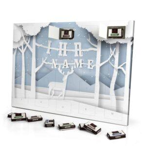 Sarotti Schokoladen Adventskalender mit eigenem Namen personalisieren - Motiv Papierschnitt Sarotti Schokoladen Adventskalender 2824 1 1