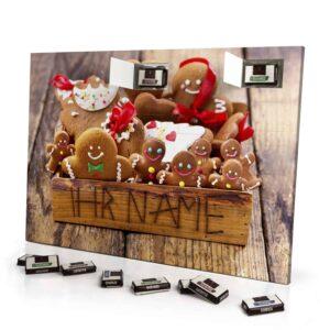 Sarotti Schokoladen Adventskalender mit eigenem Namen personalisieren - Motiv Weihnachtsbox Sarotti Schokoladen Adventskalender 2825 1 1