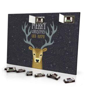 Sarotti Schokoladen Adventskalender mit eigenem Namen personalisieren - Motiv Hirsch Sarotti Schokoladen Adventskalender 2826 1 1