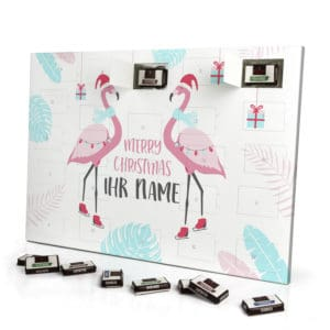 Sarotti Schokoladen Adventskalender mit eigenem Namen personalisieren - Motiv Flamingo Sarotti Schokoladen Adventskalender 2827 1 1
