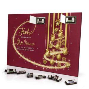 Sarotti Schokoladen Adventskalender mit eigenem Namen personalisieren - Motiv Frohe Weihnachten - Rot Sarotti Schokoladen Adventskalender 2990 1 1