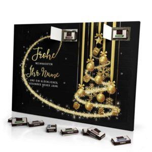 Sarotti Schokoladen Adventskalender mit eigenem Namen personalisieren - Motiv Frohe Weihnachten - Schwarz Sarotti Schokoladen Adventskalender 2991 1 1