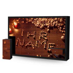 Schachtel Adventskalender mit eigenem Namen personalisieren - Motiv Nüsse Schachtel Adventskalender 1043 1 1