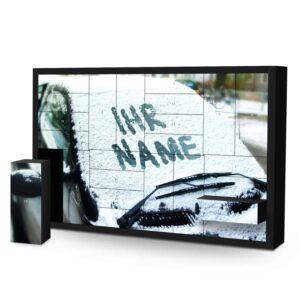 Schachtel Adventskalender mit eigenem Namen personalisieren - Motiv Schneescheibe Schachtel Adventskalender 1049 1 1