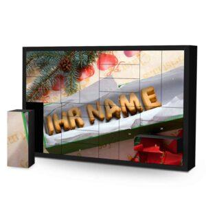Schachtel Adventskalender mit eigenem Namen personalisieren - Motiv Keksbox Schachtel Adventskalender 2252 1 1