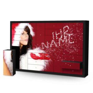 Schachtel Adventskalender mit eigenem Namen personalisieren - Motiv Weihnachtsglitzer Schachtel Adventskalender 2335 1 1