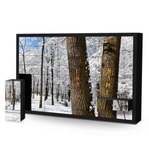 Schachtel Adventskalender mit eigenem Namen personalisieren - Motiv Bäume Schachtel Adventskalender 2493 1 1