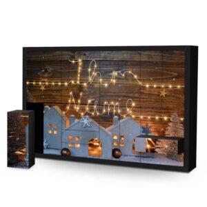 Schachtel Adventskalender mit eigenem Namen personalisieren - Motiv Lichterkette Schachtel Adventskalender 2596 1 1