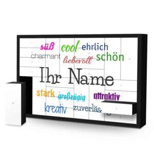 Schachtel Adventskalender mit eigenem Namen personalisieren - Motiv Positive Eigenschaften Schachtel Adventskalender 2635 1 1
