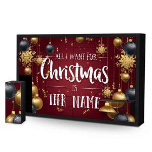 Schachtel Adventskalender mit eigenem Namen personalisieren - Motiv All i Want Schachtel Adventskalender 2636 1 1