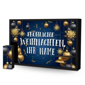 Schachtel Adventskalender mit eigenem Namen personalisieren - Motiv Fröhliche Weihnachten Schachtel Adventskalender 2637 1 1